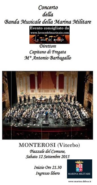 12.9.2015 a Monterosi (VT) Banda musicale della Marina Militare - www.lavocedelmarinaio.com
