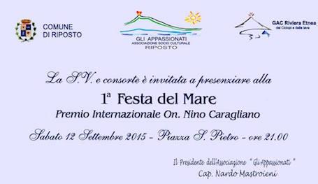 12.9.2015 a Riposto 1^ Festa del mare - www.lavocedelmarinaio.com