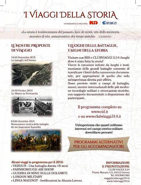 16-20.9.2015, 24-30.10.2015 e 3-6.12.2015 i viaggi della storia - WWW.LAVOCDELMARINAIO.COM