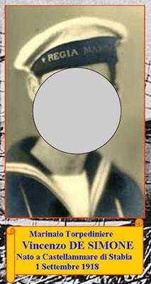 16.9.1943, Marinaio Vincenzo De Simone - www.lavocedelmarinaio.com