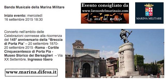 16.9.2015 a Roma 145° anniversario della Breccia di Porta Pia - www.lavocedelmarinaio.com