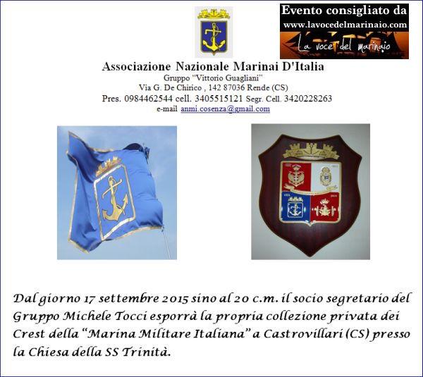 17.9.2015 a Castrovillari mostra crest - www.lavocedelmarinaio.com
