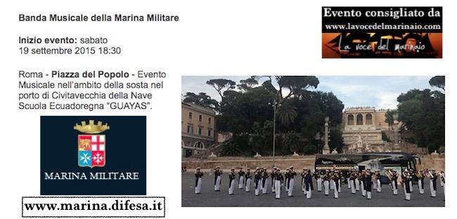 19.9.2015  a Roma concerto banda della Marina - www.lavocedelmarinaio.com