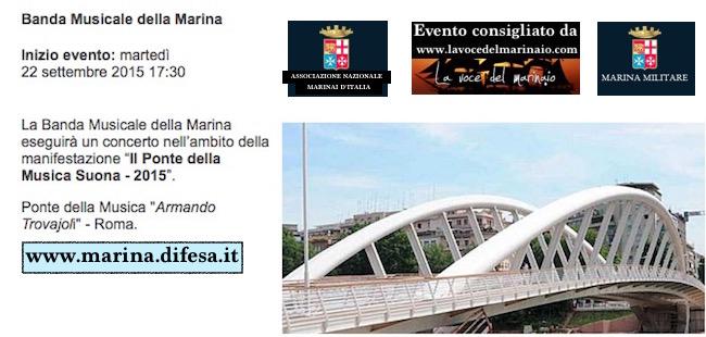 22.9.2015 banda della marina a roma - www.lavocedelmarinaio.com