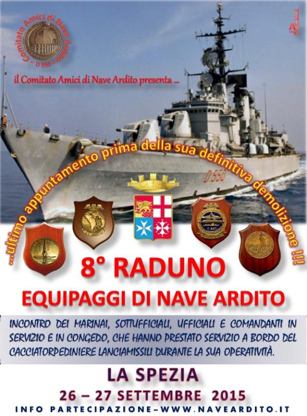 26-27.9.2015 a la Spezia 8° raduno equipagi Nave Ardito - www.lavocedelmarinaio.com
