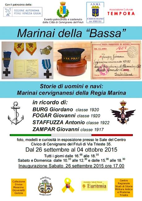 26.9 - 4.10.2015 a cervignano i marinai della bassa - www.la vocedelmarinaio.com