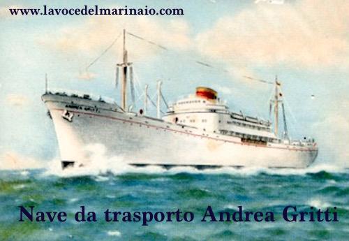 Nave da trasporto Andrea Gritti Cartolina d'epoca - www.lavocedelmarinaio.com