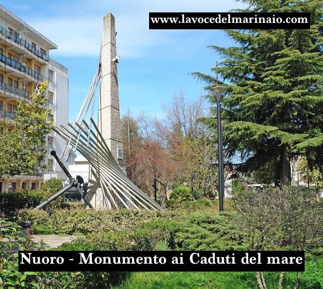 Nuoro Monumento ai caduti del mare - www.lavocedelmarinaio.com