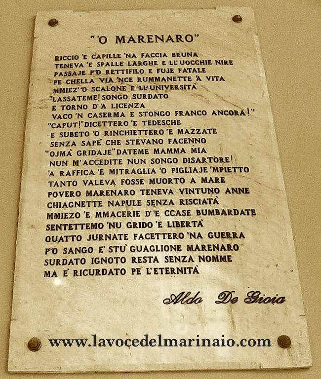 O MARENARO di Aldo De Gioia (4 giornate di napoli settembre 43) - www.lavocedelmarinaio.com
