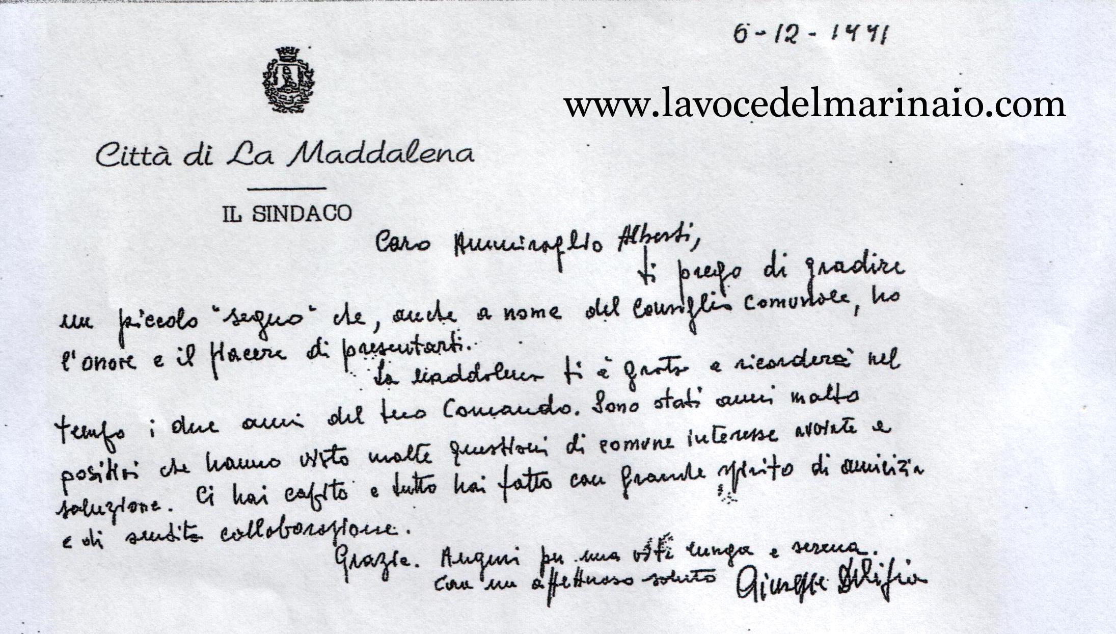testimonianza del sindaco di La Maddalena - www.lavocedelmarinaio.com