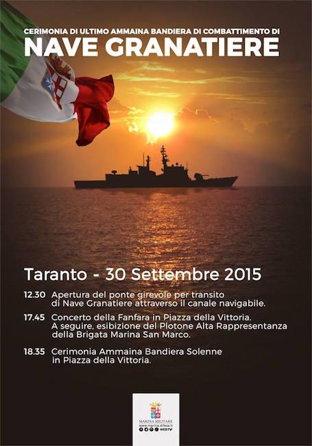 ultimo ammaina nave granatiere - www.lavocedelmarinaio.com