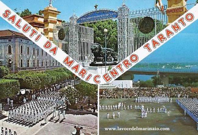 Cartolina d'epoca di Maricentro Taranto - www.lavocedelmarinaio.com