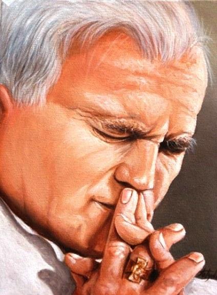 Karol una preghiera per te ritratto di Toty Donno (diritti riservati) f.p.g.c. a www.lavocedelmarinaio.com