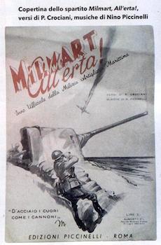 copertina spartito Milmart all'erta - www.lavocedelmarinaio.com