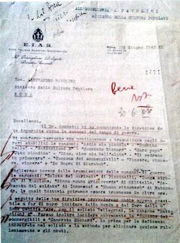 lettera del D.G. Ente Audizioni Al ministro Pavolini - www.lavocedelmarinaio.com