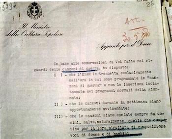 nota del Ministro Paolini indirizzata al Duce (24-5-1942) - www.lavocedelmarinaio.com
