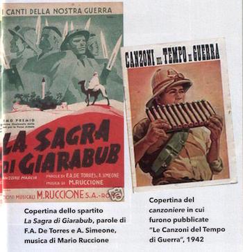 spartito e copertina pubblicate le canzoni di guerra (1942) - www.lavocedelmarinaio.con