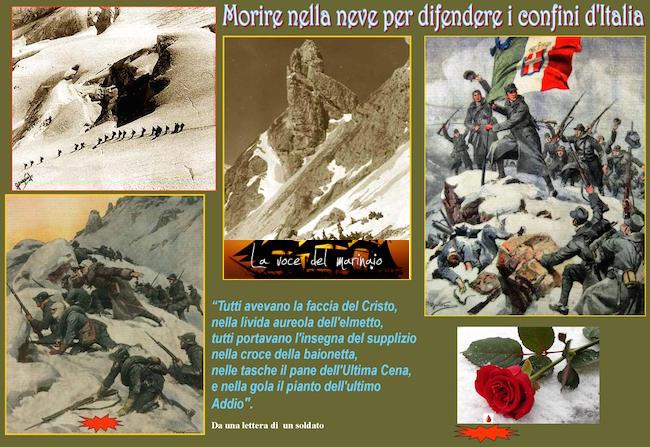 1^G.M. - morire nella nece per difendere i confini d'Italia - www.lavocedelmarinaio.com