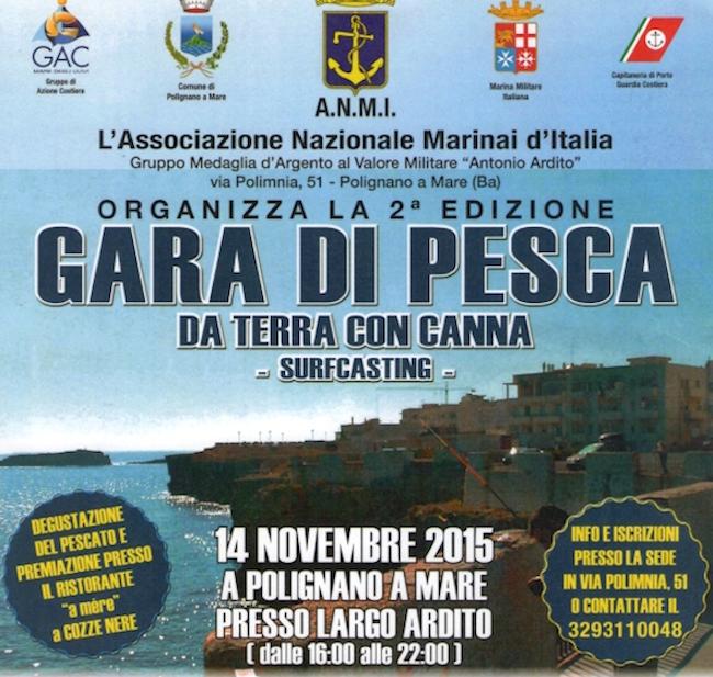 14.11.2015 a Polignano a mare gara di pesca - www.lavocedelmarinaio.com