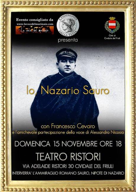 15.11.2015 a Cividale del Friuli Io Nazario Sauro - www.lavocedelmarinaio.com