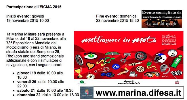 19-22.11.2015 a Milano EICMa - www.lavocedelmarinaio.com