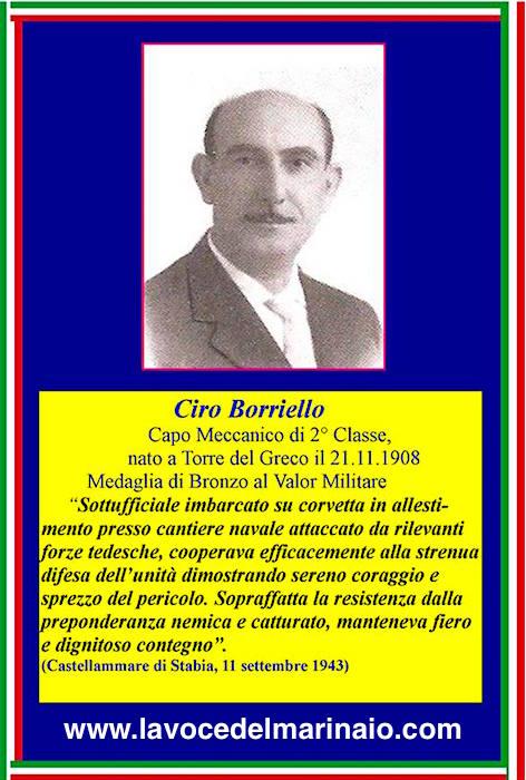 21.11.1908, Ciro Borriello Capo Meccanico 2^classe - ww.lavocedelmarinaio.com