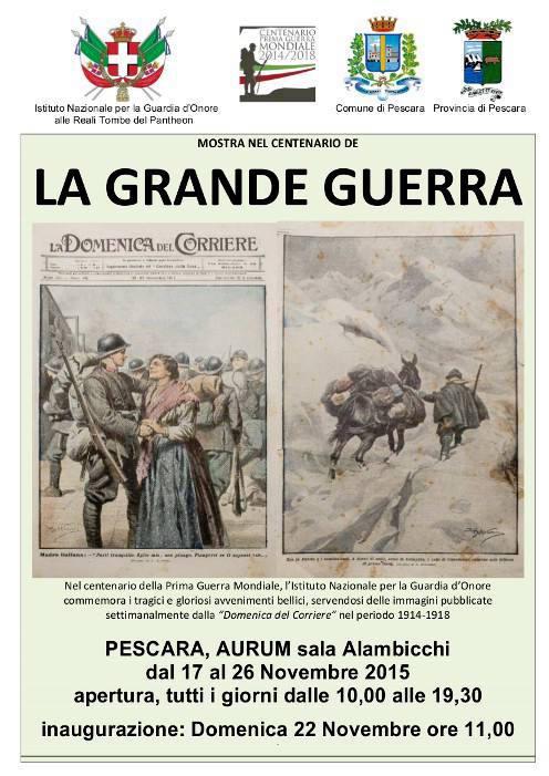 26.11.2015 a Pescara MOSTRA SU LA GRANDE GUERRA - WWW.LAVOCEDELMARINAIO.COM