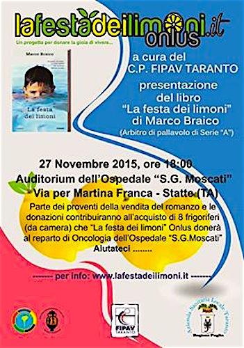 27.11.2015 a Statte (Taranto) Presentazione del libro la festa dei limoni di  Marco Braico - www.lavocedelmarinaio.com