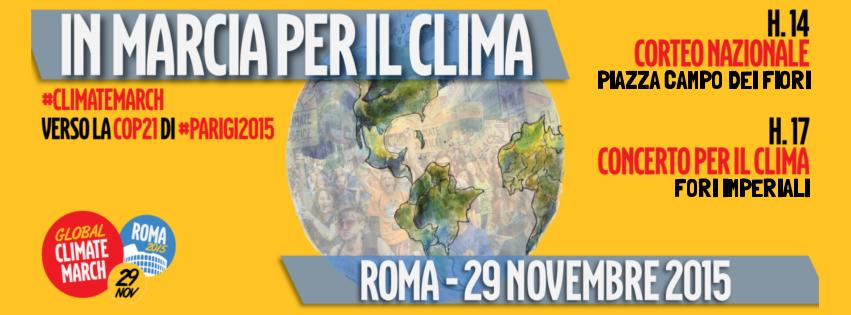 29.11.2015 a roma in marcia per il clima con legambiente - www.lavocedelmarinaio.com