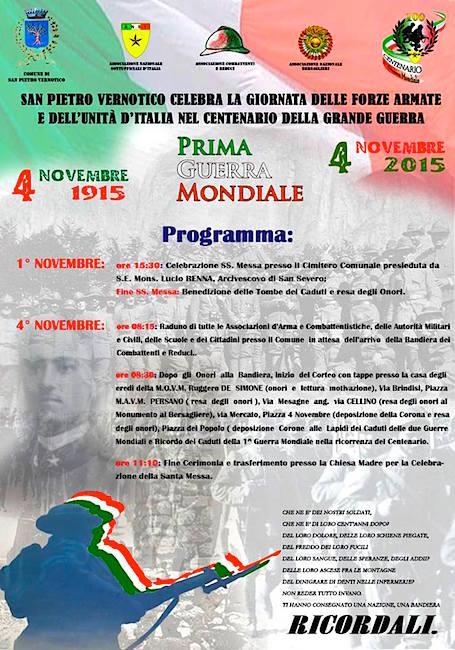 4.11.2015 a San pietro Vernotico festa dell'unità mazionale - www.lavocedelmarinaio.com