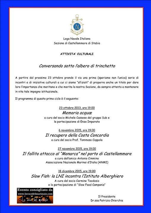 6.11.2015 e altre date a castellammare di stabia - www.lavocedelmarinaio.com