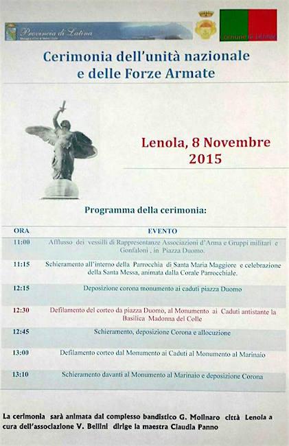 8.11.2015 a Lenola - www.lavocedelmarinaio.com