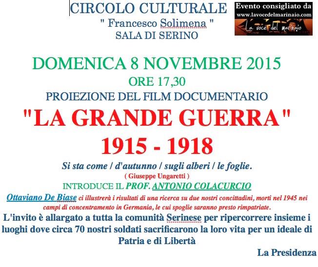8.11.2015a Sala di Serino  - La grande Guerra - www.lavocedelmarinaio.com