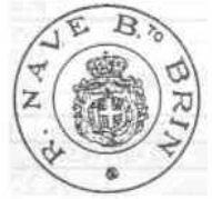 Bollo postale della regia nave Brin - www.lavocedelmarinaio.com