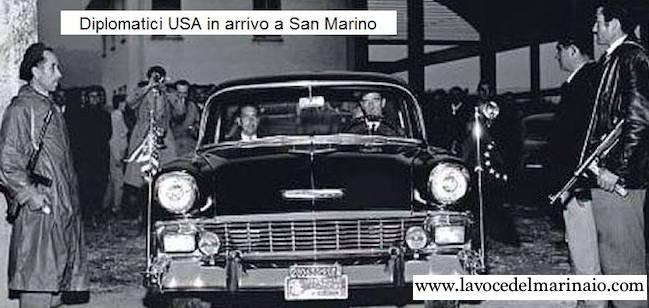 Diplomatici U.S.A. in arrivo a San Marino - f.p.g.c. Guglielmo Enagelista a www.lavocedelmarinaio.com