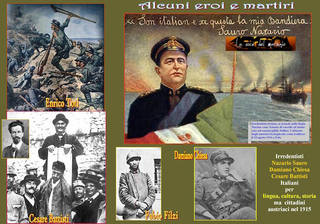 Gli irredentisti della prima guerra mondiale www.lavocedelmarinaio.com