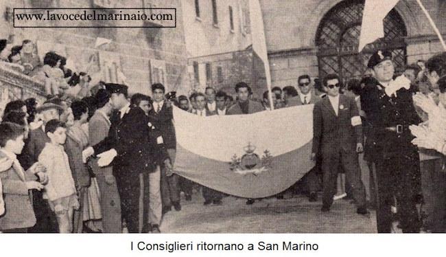 I consiglieri ritornano a San Marino f.p.g.c. Guglielmo Evangelista a www.lavocedelmarinaio.com
