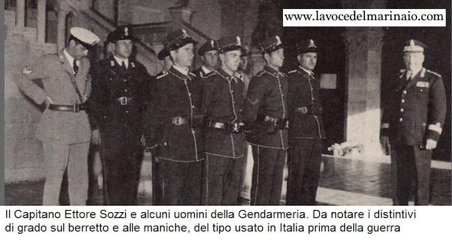 Il Capitano Sozzi e alcuni uomini della gendarmeria di San Marino f.p.g.c. Guglielmo Evangeslista - www.lavocedelmarinaio.com