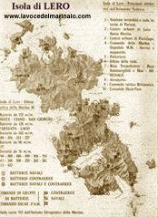 Mappa dell'Isola di Lero - www.lavocedelmarinaio.com