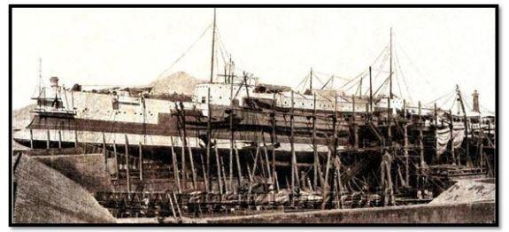 Regia nave Brin in costruzione - www.lavocedelmarinaio.com