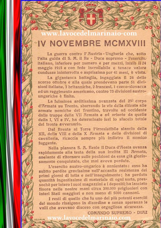 bollettino di guerra Armando Diaz - copia - www.lavocedelmarinaio.com