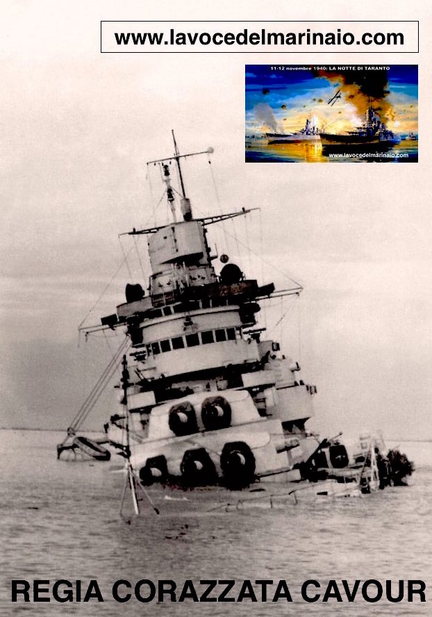 corazzata Cavour adagiata a Taranto Mar Grende - www.lavocedelmarinaio.com