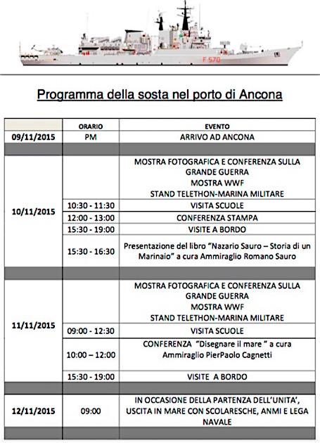 nave maestrale in sosta ad ancona 9-12.11.2015 - Programma - www.lavocedelmarinaiom.com