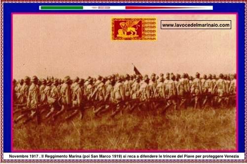 novembre 1917 Reggimento Marina a Venezia - www.lavocedelmarinaio.com