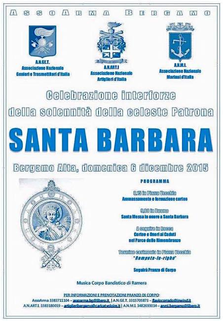 6.12.2015 Santa Barbara a Bergamo - www.lavocedelmarinaio.com