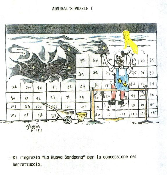 Admiral's puzzle vignetta di Simone carta p.g.c. a www.lavocedelmarinaio.com