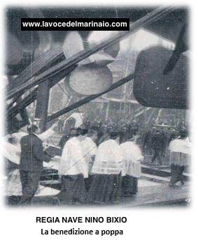 La benedizione della poppa della regia nave Nino Bixio - www.lavocedelmarinaio.com