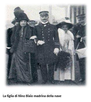 La figlia di Ninino Bixio madrina del varo della regia nave - www.lavocedelmarinaio.com