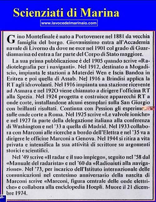 Scienziati di Marina Gino Montefinale - www.lavocedelmarinaio.com