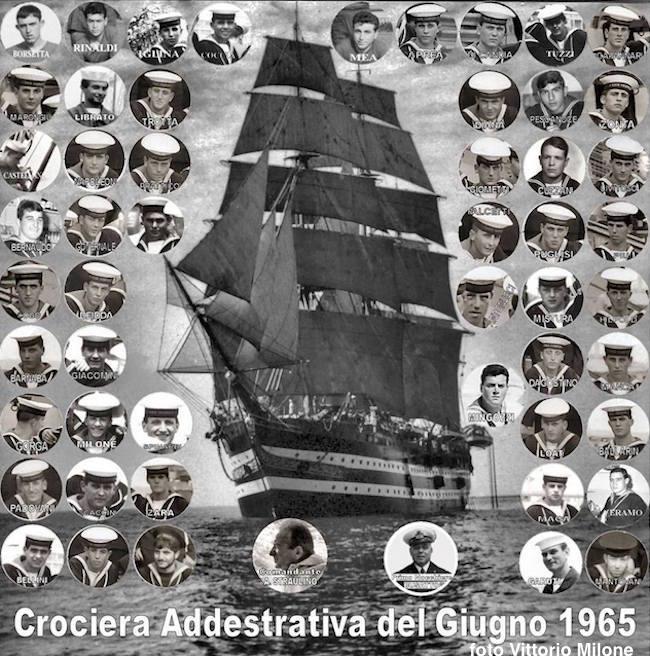 Vespucci crociera nord Europa 1965 comandante straulino foto Vittorio Milone